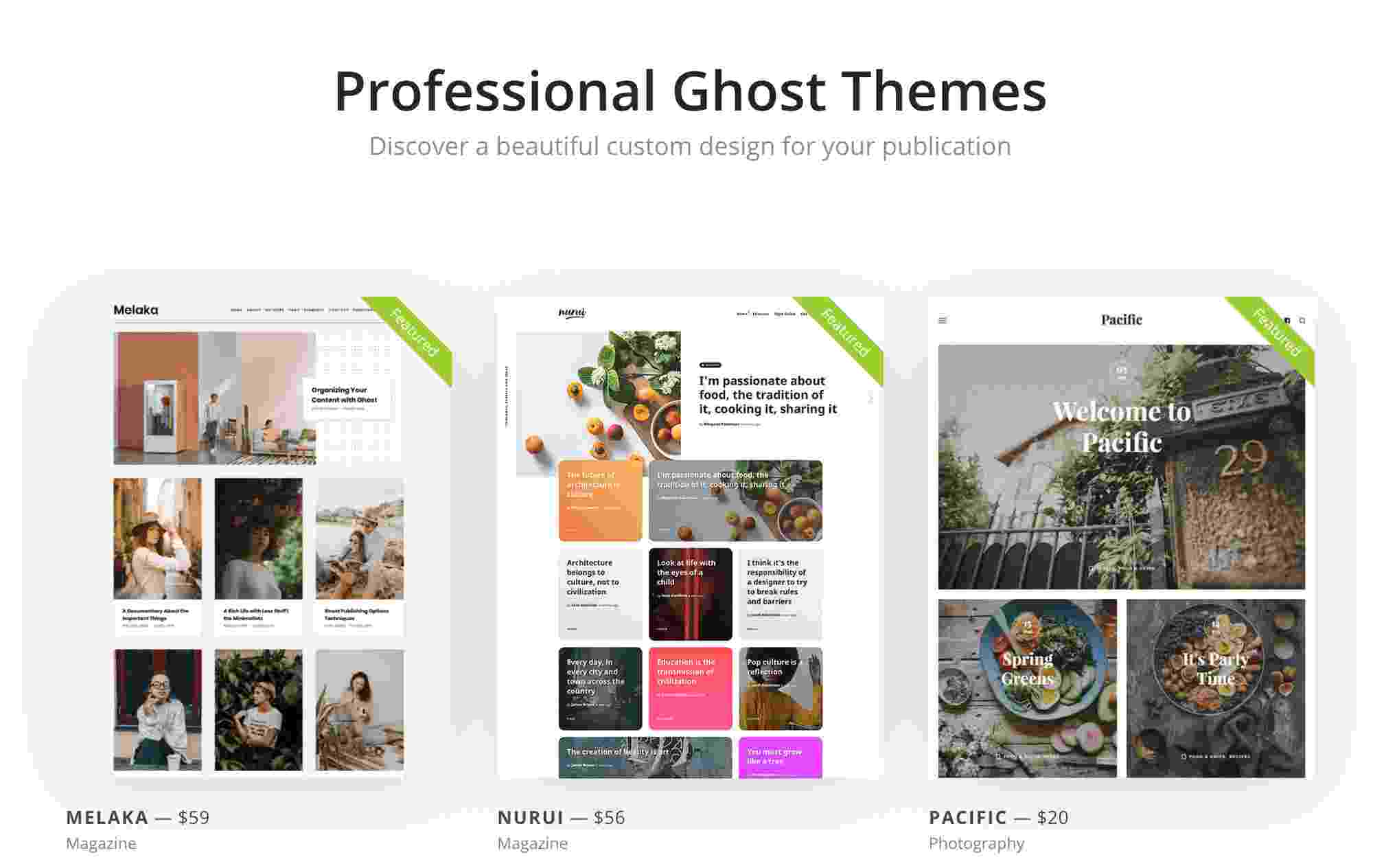Ghost theme marketplace screenshot